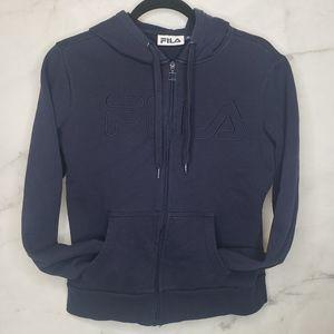 Fila full zip hoodie vintage